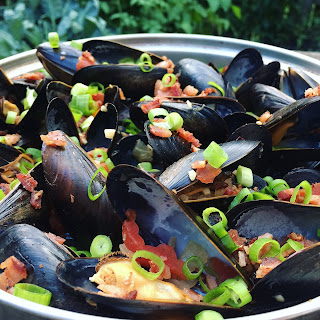 Beer & Bacon Mussels.