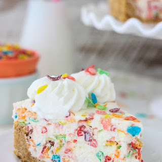 No-Bake Fruity Pebbles Cheesecake