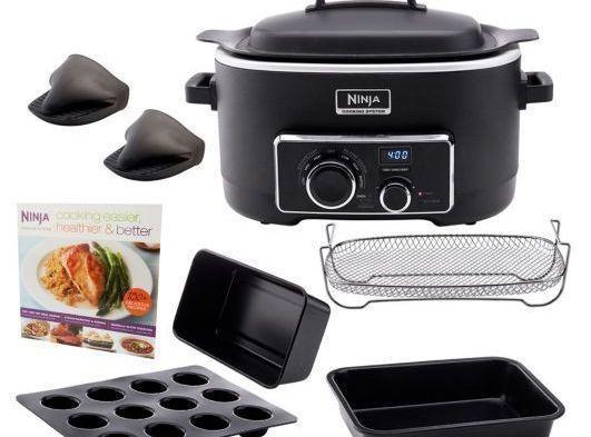 1 Ninja Cooking System w/silicone mini-muffin tray