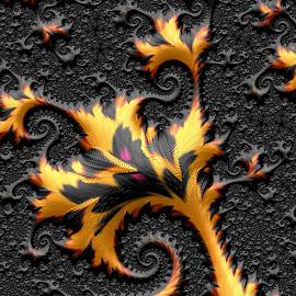 Leaf design by Capucino Julio - Illustration Abstract & Patterns ( brown, leaf, fractal, black, design )