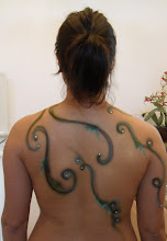 Photo: Back Design for Halloween Body Painting by Paola from http://www.BestPartyPlanner.net
