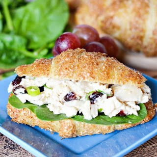 Easy Chicken Caesar Croissant Sandwich.