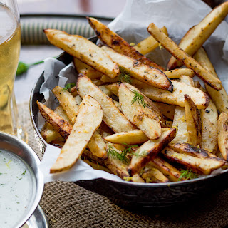 Greek Style Oven Fries & Tzatziki Dipping Sauce