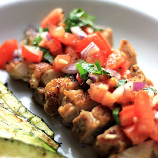 Lemon Garlic Chicken with Fresh Tomato Salsa