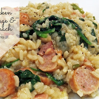 Chicken Sausage and Spinach Risotto