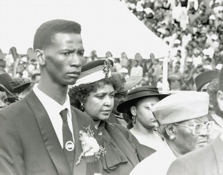 Winnie Mandelaat the funeral of OR Tambo in 1993.