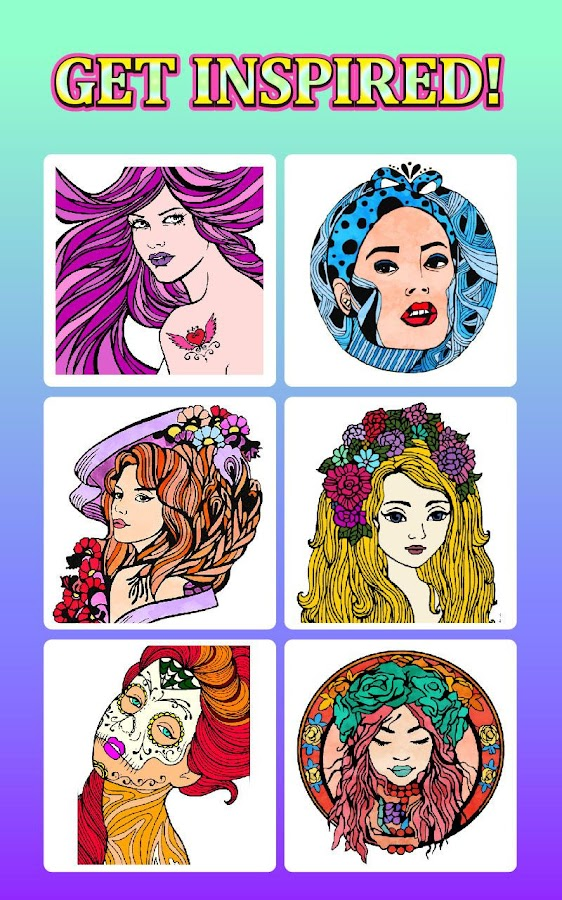 Fashion Adult Coloring Books Screenshot