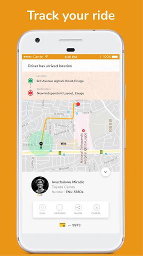 rideon.ng - taxi hailing app screenshot 3