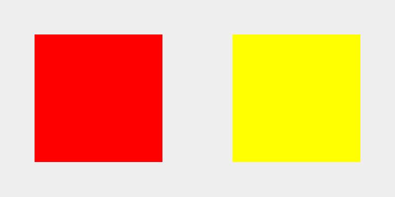 Peso visual rojo vs amarillo