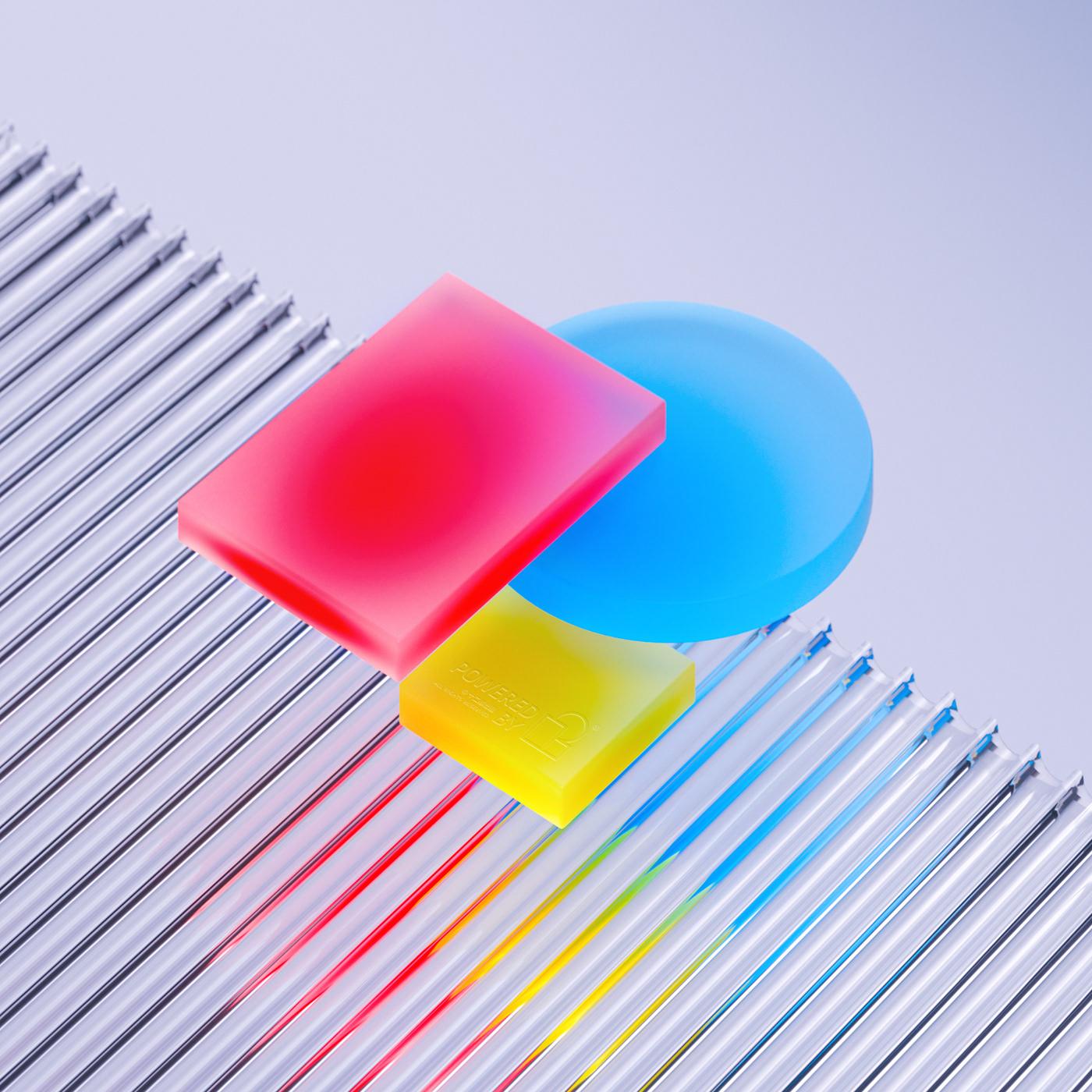 bauhaus color glass gradient refraction