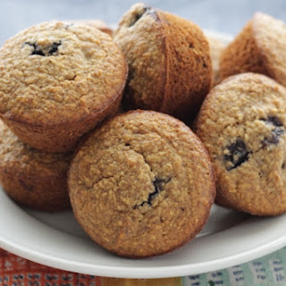 Blueberry Banana Muffins with Flaxseed