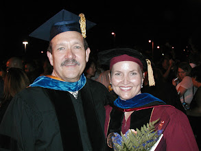 Photo: Doran and new Anthropology Ph.D.,  Dr. Rachel Wentz (2005),  now with Florida Public  Archaeology Network.