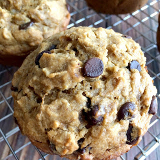 Butternut Squash Banana Chocolate Chip Muffins