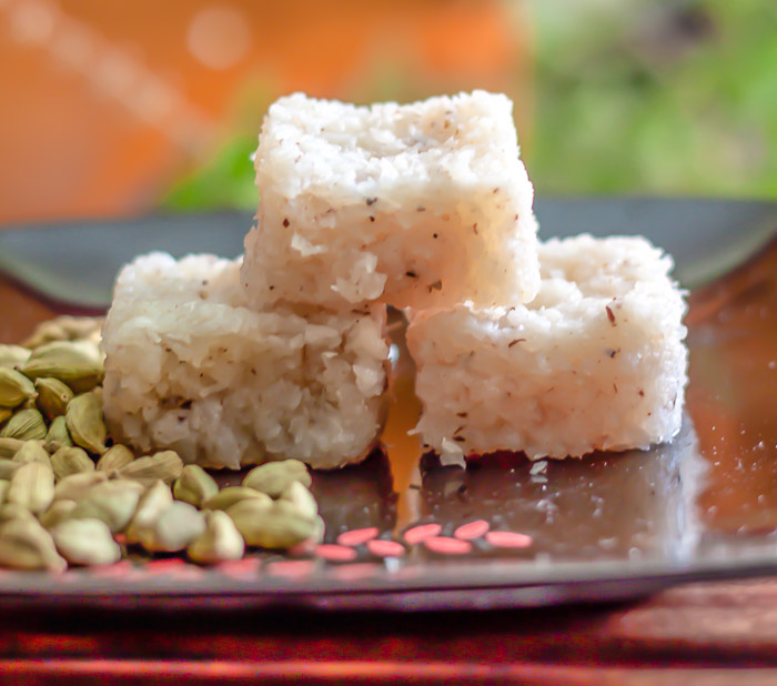 How to make coconut barfi at home