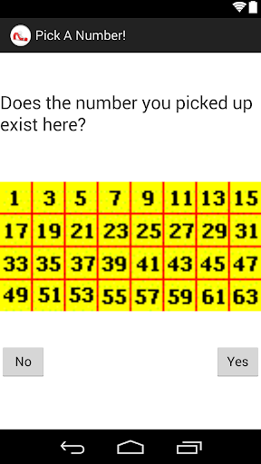 Pick A Number