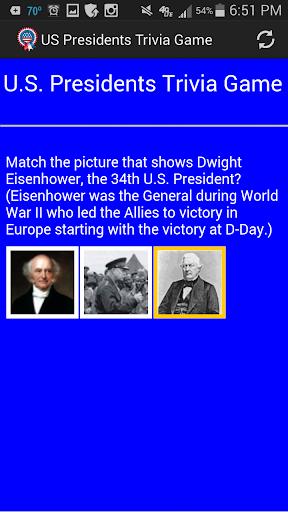 US Presidents Trivia Game