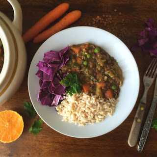 Comforting Lentil and Vegetable Stew.