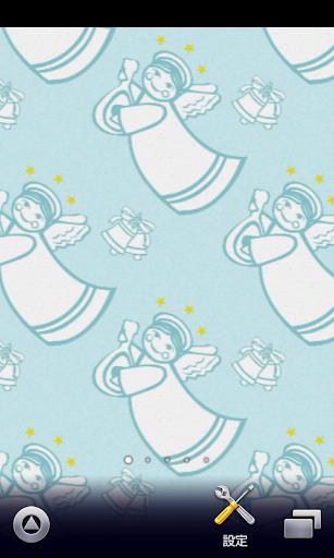 天使のパターン柄【スマホ待受壁紙】