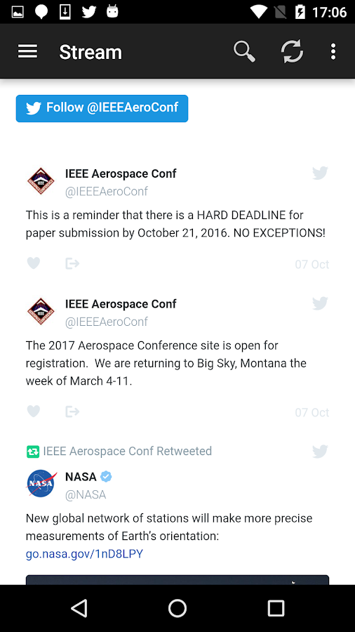 2017 IEEE Aerospace Conference- screenshot