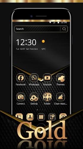 Download Black Gold Theme Wallpaper APK latest version app by fancy