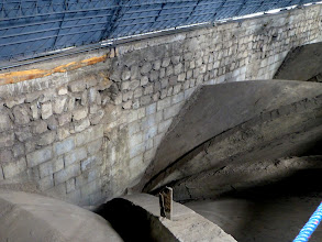 Photo: View inside the false roof, showing manner of construction