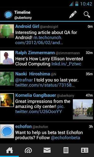 Screenshot for Echofon PRO for Twitter in Hong Kong Play Store