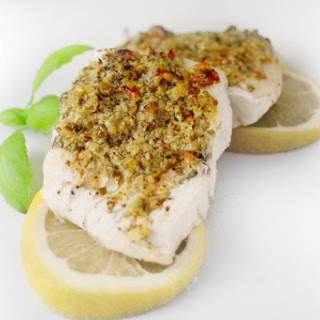 Pesto and Walnut Crusted Cod.
