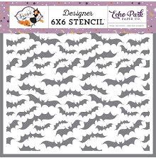 Echo Park Stencil 6X6 - Creepy Bats UTGÅENDE