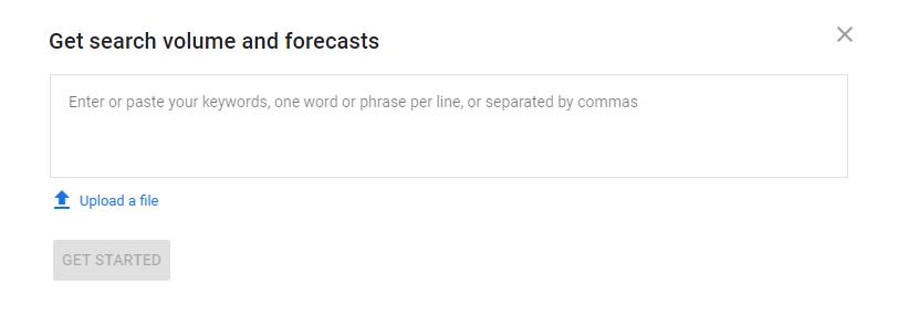 Google Ads Keyword Planner for PPC forecasting