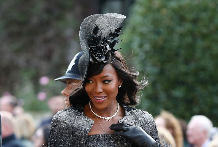 Naomi Campbell arrives for the wedding of Princess Eugenie of York and Mr. Jack Brooksbank.
