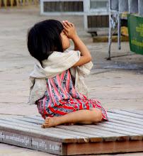 Photo: Year 2 Day 56 -  Small Girl Worshipping at The Lawkananda Pagoda