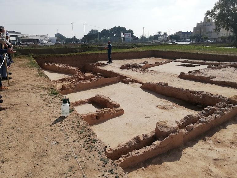 Zona de excavaciones en el Yacimiento de Ciavieja.