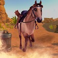 Horse Riding Games : Wild Cowboy Racing Simulator icon
