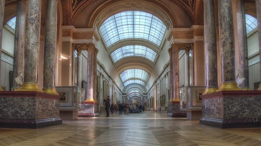 Inside the Lourve by Steve Dormer - Buildings & Architecture Public & Historical ( paris, the lourve, art, france, painting )
