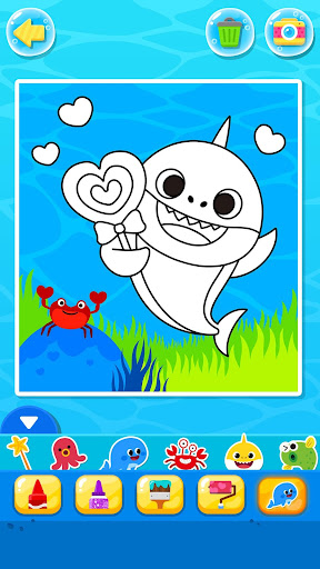 Pinkfong Baby Shark Coloring Book screenshot 8