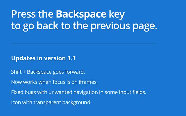 Backspace to go Back Screenshot