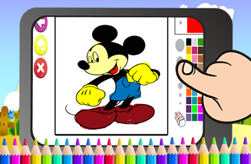 Art mickey Coloring Page Mouse Cartoon