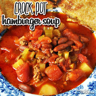 Crock Pot Hamburger Soup.