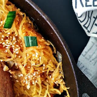 Spaghetti Squash Chow Mein.
