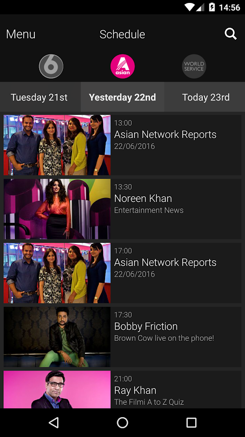 BBC iPlayer Radio- screenshot