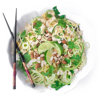Spicy Zoodle Pad Thai Salad