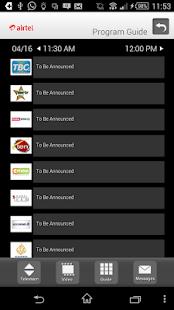 Airtel TV screenshot