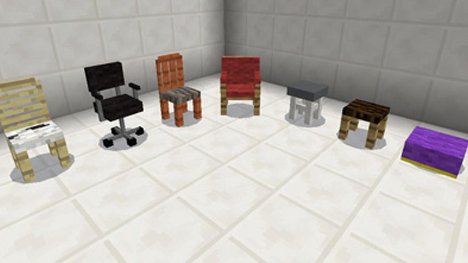 mod living furniture. chair furniture mod for mcpe screenshot living