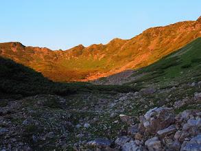 Photo: モルゲンロートに輝く仙丈岳