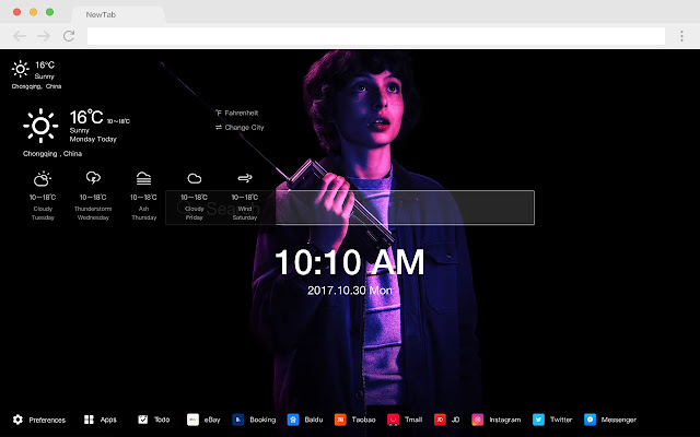 Stranger Things Show HD Shows New Tabs Themes