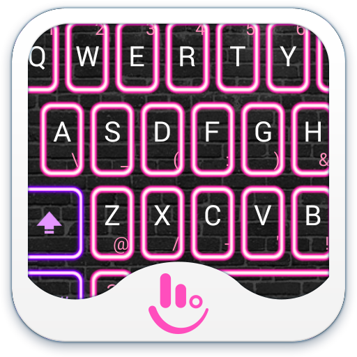 Neon Pink Club Keyboard Theme