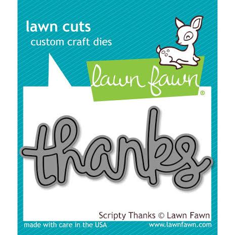 Lawn Fawn Custom Craft Die - Scripty Thanks