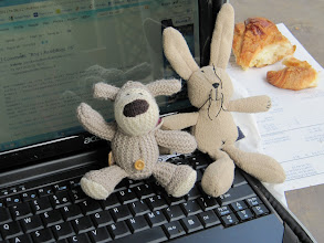 Photo: Day 21 - Boofle and  Baby Big Bun Having Breakie and Blogging!
