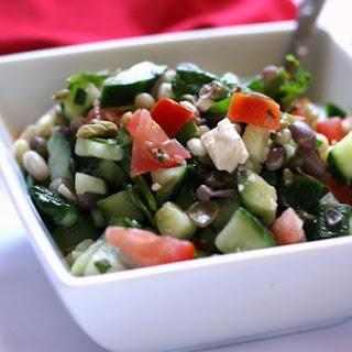 Mediterranean Sprouted Bean Salad