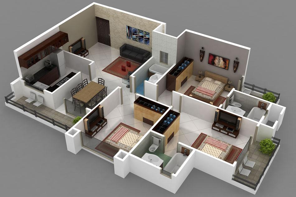 3d Home layout designs- screenshot
